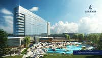 The Legends Resort & Casino Arkansas will feature a 200-room luxury hotel and outdoor water park.(Courtesy of Legends Hospitality)