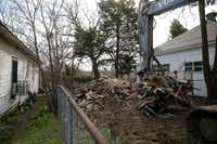 A demolished house at 228 S. Cliff St. in the historic Tenth Street district(Vernon Bryant/Staff Photographer)
