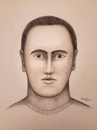 A police sketch of the man suspected of grabbing and kissing two women in McKinney.(McKinney Police Department)