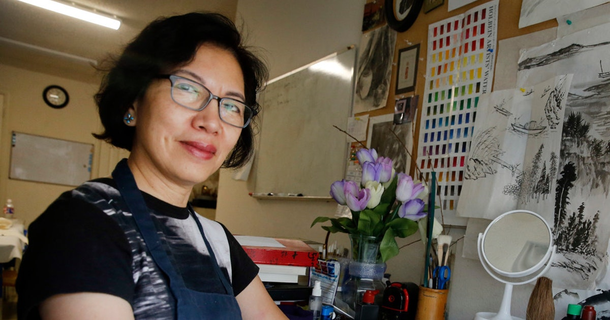 In Plano artist Jenney Chang's brush paintings, East and West come together...
