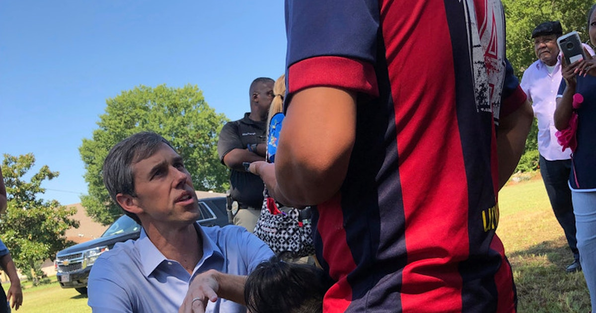 Beto O'Rourke takes retooled message to Oklahoma, urging unity against Trump's 'racist' demagoguery...