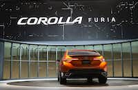 DETROIT, MI - JANUARY 14:  Toyota introduces the Corolla Furia Concept car at the North American International Auto Show on January 14, 2013 in Detroit, Michigan. The auto show will be open to the public January 19-27.  (Photo by Scott Olson/Getty Images)Scott Olson - Getty Images