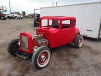 A customer sought out Klump to install electric windows in his 1932 Chevrolet Coupe. Klump then did body work on the car and painted it red, in a shade used on the 2014 Corvette.(Photo submitted by JOHN KLUMP)