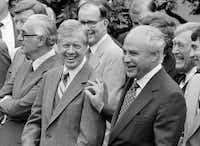 Ambassador Robert Strauss, special trade negotiator, and President Jimmy Carter on July 26, 1979( Dennis Cook  -  ASSOCIATED PRESS )