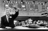 President Cartercampaigns in Texarkana on October 23, 1980. (David Woo/The Dallas Morning News)