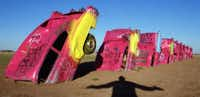 The Cadillac Ranch, an art installation consisting of 10 vehicles with noses planted in the ground, has been a roadside attraction outside Amarillo since the 1970s.( File   -  Staff Photo )
