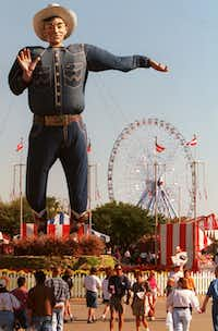 The original Big Texas towered over the fairgrounds for decades.