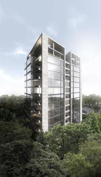 Great Gulf plans  to build a 13-story apartment tower at Turtle Creek Boulevard and Fairmount Street.(Great Gulf)