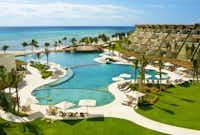 The Grand Velas Riviera Maya is located along the beaches of Playa del Carmen.