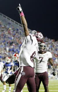 Thomas Johnson was well on his way to being a star receiver for the Aggies when he walked off the Texas A&M campus less than three months into his freshman year.( 2012 File Photo  -  Vernon Bryant )