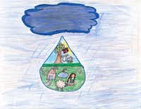 Art winner in the K-1 category was Serene Najim, first grade, Al-Hedayah Academy, Fort Worth.