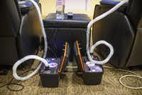 NormaTec machines pump air into boots that combine compression with massage.( Matthew Busch  - Staff Photographer)