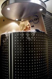 Whole-body cryotherapy involves up to three minutes in a chamber of nitrogen gas to rapidly lower the temperature.( Matthew Busch  -  Staff Photographer )