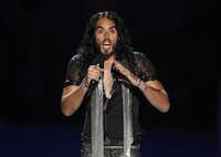 Russell Brand is one celebrity who recently adopted a vegan diet.(Matt Sayles)