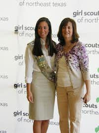 Jessica Martinez, left, a Girl Scout for 12 years, with her mom, Carrie Martinez, received her Gold Award in May 2013.Photo submitted by RICK MARTINEZ