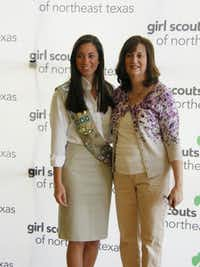 Jessica Martinez, left, a Girl Scout for 12 years, with her mom, Carrie Martinez, received her Gold Award in May 2013.(Photo submitted by RICK MARTINEZ)