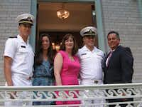 Ryan Martinez, left, Jessica Martinez, Carrie Martinez, Chris Martinez and Rick Martinez attended the Superintendent Garden Party before Chris' graduation from the United States Naval Academy last year.Photo submitted by RICK MARTINEZ