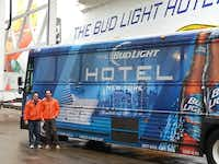 Arthur Veytsman (left) and Mark Shrayber managed Super Bowl transportation for nearly 1,500 guests of Bud Light Hotel in New York earlier this month.