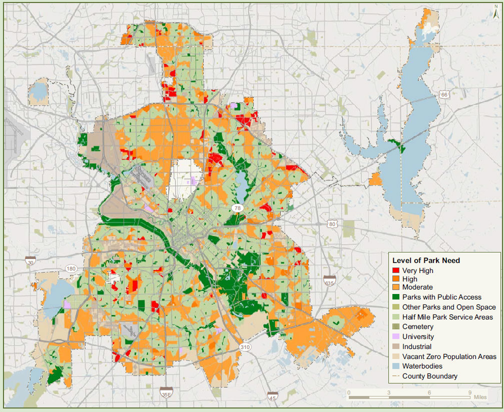 As Dallas fails to put green (dollars) into its park system, the ...