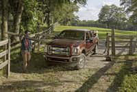 Ford has not announced prices for the 2015 Super Duty (above), but the base price for the 2014 Super Duty King Ranch is $49,400.