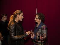 Anna-Sophia van Zweden (left) and Nancy Nasher chat at the Chalet Dallas closing party.( Special Contributor  -  Nan Coulter  )