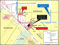 Click to enlarge: A map prepared for the August SOAH hearing
