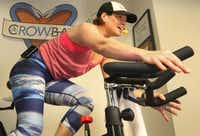Setnick, who leads indoor cycling classes, says the driving force behind a workout is to improve health, get stronger and lose weight, but enjoying it helps.(Louis DeLuca - Staff Photographer)