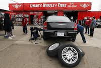 Besides Omar's Wheels & Tires, the store owner says he partners in nine shops around Dallas and plans to open two more soon.( Tom Fox  -  Staff Photographer )