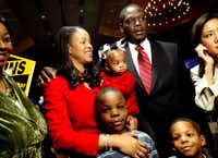 Craig and Tanya Watkins and their children watched election returns together in 2006, when a Democratic voting surge swept him into the district attorney's office. The South Dallas lawyer and long-shot candidate initially enjoyed an image as a defender of justice, trying to quash institutional bias against minorities.