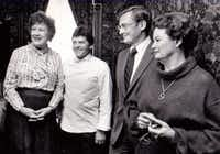Julia Child, Jean-Claude Prevot and Bill and Margot Winspear on October 13, 1983 (File photo)