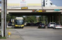 A DART 347 bus pulls up to a stop along Haverwood Lane near Dallas Parkway in Dallas.( Andy Jacobsohn  -  Staff Photographer )