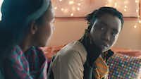 "Aasha Davis (left) stars as ""Bina"" and Adepero Oduye (right) stars as ""Alike"" in Focus Features release'a ""Pariah."""