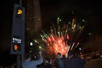 A fireworks display in the parking lot officially closed Chalet Dallas.( Special Contributor  -  Nan Coulter  )