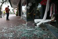 NAPA, CA - AUGUST 24:  A mannequin lays in broken glass in front of a damaged buillding following a reported 6.0 earthquake on August 24, 2014 in Napa, California.  A 6.0 earthquake rocked the San Francisco Bay Area shortly after 3:00 am on Sunday morning causing damage to buildings and sending at least 70 people to a hospital with non-life threatening injuries.(Justin Sullivan - Getty Images)