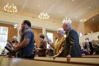 Parishioners attended Wilshire Baptist Church on Sunday, using their service to touch on the need to pray for the family and all those stricken with the Ebola virus.(Joe Raedle - Getty Images)