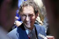 DETROIT, MI - JANUARY 13:  John Elkann, chairman of Fiat, fields questions following Chrysler's introduction of the 2015 Chrysler 200 at the North American International Auto Show (NAIAS) on January 13, 2014 in Detroit, Michigan. The auto show opens to the public January 18-26.  (Photo by Scott Olson/Getty Images)(Scott Olson - Getty Images)