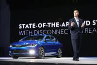 DETROIT, MI - JANUARY 13:  Alistair Gardner, President and CEO of Chrysler Brand, introduces the 2015 Chrysler 200 at the North American International Auto Show (NAIAS) on January 13, 2014 in Detroit, Michigan. The auto show opens to the public January 18-26.  (Photo by Scott Olson/Getty Images)(Scott Olson - Getty Images)