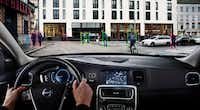 The 2014 Volvo S60 has a pedestrian and cyclist detection feature that includes a radar unit integrated into the car's grille.