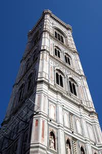 The bell tower of the duomo in Florence glows in soft, muted colors.( Katherine Rodeghier  -  Katherine Rodeghier )