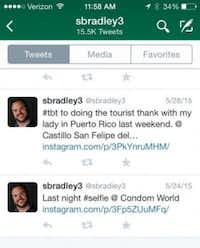 Bradley's Twitter account indicated that he and a young woman visited a sex shop called Condom World during a work-related trip. (Tampa Bay Times)