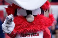 Raider Red is seen before the Texas Tech Red Raiders basketball game. (Grant Halverson/Getty Images)