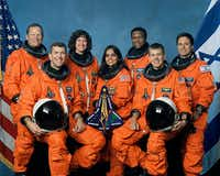 "(FILES): This undated NASA handout image obtained 26 August, 2003 shows the crew of the US space shuttle Columbia.  The accident of the US pace shuttle Columbia one decade ago, February 1, 2003, which claimed the lives of seven astronauts on board, was crucial in ending the US shuttle program in 2011. On the 10th anniversary of the disaster NASA will  commemorate the astronauts killed in the ill-fated mission in a ceremony to be held February 1, 2013 at the military cemetery in Arlington, Virginia,  near Washington, DC. Front from left are: astronauts Rick D. Husband, mission commander; Kalpana Chawla, mission specialist; and William C. McCool, pilot. Rear from left are:  David M. Brown, Laurel B. Clark, and Michael P. Anderson, all mission specialists; and Ilan Ramon, payload specialist, representing the Israeli Space Agency.      AFP PHOTO / FILES / NASA   == RESTRICTED TO EDITORIAL  USE / MANDATORY CREDIT:  ""AFP PHOTO / NASA"" /  NO SALES / NO MARKETING / NO ADVERTISING CAMPAIGNS / DISTRIBUTED AS A SERVICE TO CLIENTS ==NASA/AFP/Getty Images(NASA - AFP/Getty Images)"