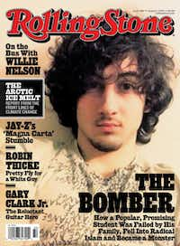 This image, courtesy of Rolling Stone magazine, shows the Aug. 1 cover. The magazine's decision to put Dzhokhar Tsarnaev, the accused Boston Marathon bomber, on the cover has ignited a firestorm of outrage online.