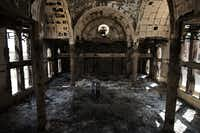 What remains of the Amba Moussa Coptic Church in Minya.