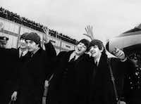 The Beatles arrive at John F. Kennedy Airport in New York on Feb. 7, 1964.