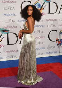 Solange Knowles attends the 2014 Council of Designers of America Awards (CFDA) at Alice Tully Hall at the Lincoln Center June 2, 2014 in New York City. AFP PHOTO / Timothy  A. CLARYTIMOTHY A. CLARY/AFP/Getty ImagesTIMOTHY A. CLARY - AFP/Getty Images