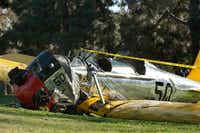 Another look at the wreckage of Harrison Ford's plane.(Jonathan Alcorn - Presse)