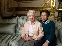 Queen Elizabeth was photographed with daughter Princess Anne at Windsor Castle to celebrate her milestone birthday. (Annie Liebovitz via AP)