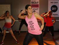 Rachel Kuhr keeps ideas  churning by trying different activities, including a workout at Grit Fitness in Dallas. She swears by improv to boost creativity.(Lawrence Jenkins - Special Contributor)