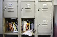 Lockers in the boys living area at the Henry Wade Juvenile Justice Center in Dallas on Feb. 10, 2015.( Rose Baca  -  Staff Photographer )